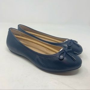 Canvas By Lands End Leather Ballet Flats Size 8.5W